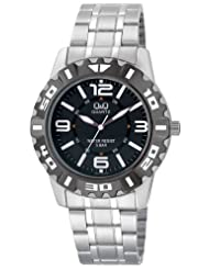 Q&Q Black Dial Men's Watch - Q672N405Y