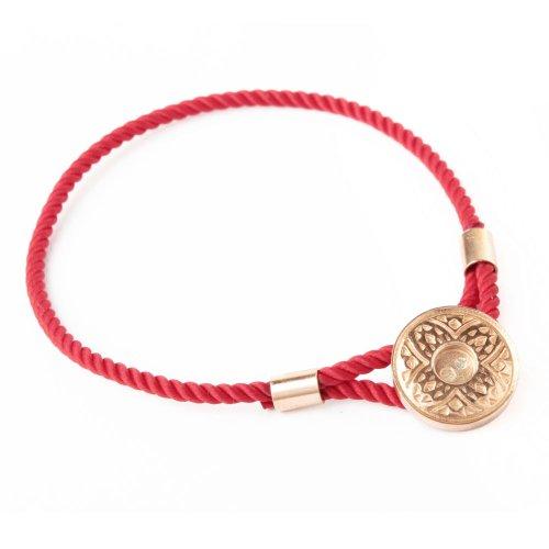 Diana 18ct Rose Gold Vermeil Tribal Pattern Caring Bracelet