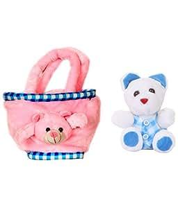 DEALS INDIA Deals India Teddy Bag and Mini teddy combo