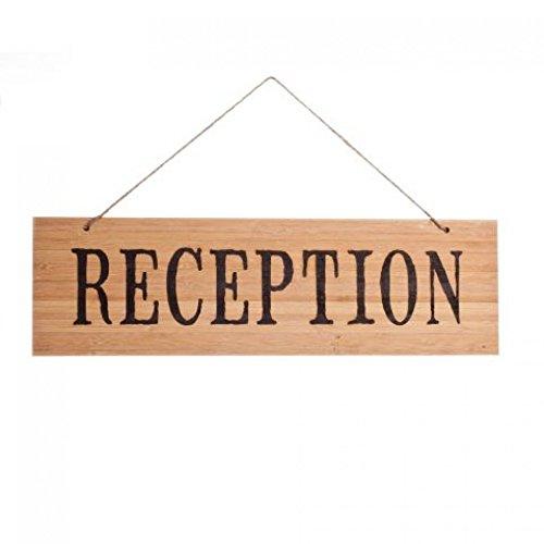 Koyal Wholesale Rustic Natural Wood Arrow Wedding Sign, Reception front-812157