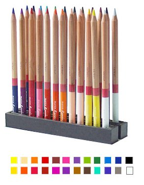 Artist Watercolor Pencil 24 Colour Set, Tin Box/24