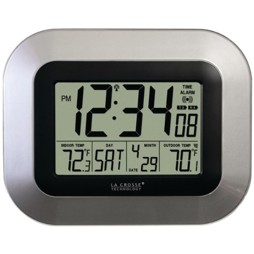La Crosse Technology Ws-8115U-S Digital Wall Clock With Indoor And Outdoor Temperature front-52009