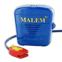 Malem Ultimate Recordable Bedwetting Enuresis Alarm - Blue Recordable Tone w/ Vibration