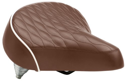 Schwinn Quilted Springer Cruiser Saddle Seat, Brown (Brown Bike Seat compare prices)