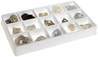 American Educational 15 Piece Fluorescent Minerals Short and Long Wave Collection