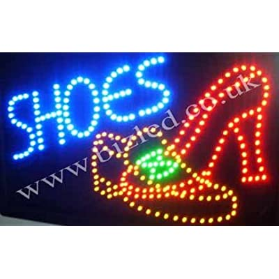 QUALITY FLASHING SHOES led new window shop signs