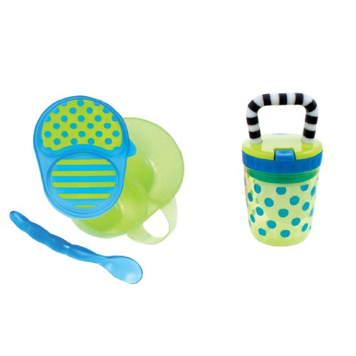 Sassy First Solids Feeding Set, Blue/Green (Sassy Bowl Set compare prices)