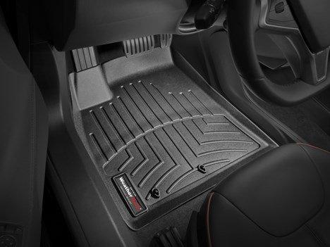 2012-2015 Tesla Model S-Weathertech Floor Liners-No Door Sill Badging Full Set(Includes 1st and 2nd Row) Black (Tesla Model S Floor Mat compare prices)