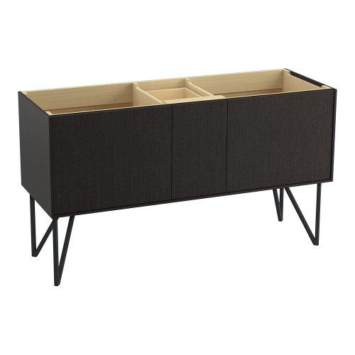 Kohler K-99548-Lg-1Wk Jute Vanity With Furniture Legs 2 Doors And 1 Drawer, 60-Inch, Satin Oak
