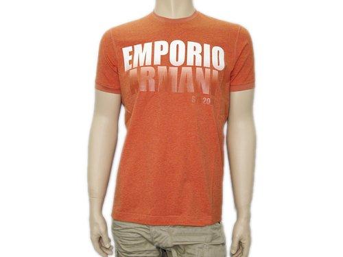 (エンポリオ アルマーニ) EMPORIO ARMANI グラデーションロゴプリント半袖Tシャツ オレンジ VNH61-BM-9D [並行輸入品]