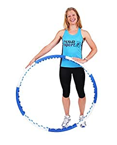 ResultSport® Level 2 Anion Massage Weighted 1.45kg (3.20lbs) Fitness Exercise Hula Hoop 110cm wide