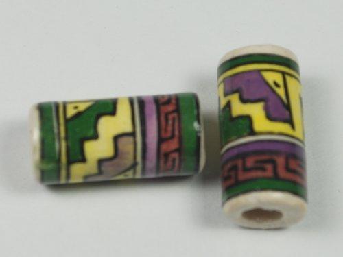 tumi-10-x-glazed-tube-clay-ceramic-beads-with-pre-hispanic-design-hand-painted-in-cuzco-peruvian-bea