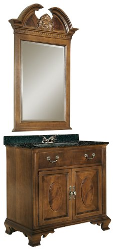 Kaco international 626-3000-AB Dorchester 30-Inch Vanity with Brown Cherry Sherwin Williams Finish and Black Granite Top