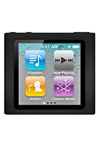 Premium Black Soft Silicon Gel Skin Case Cover for the Apple iPod Nano 6 Gen, 6th Generation from MiniSuit