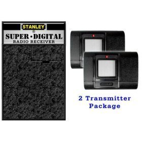Stanley garage opener receiver and 2 transmitters