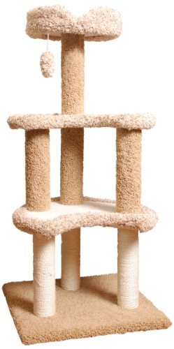 Majestic Pet 50-Inch Carpeted Sherpa Moon Cat Tree