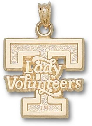 Tennessee Volunteers T Lady Volunteers 5 8 Pendant - 14KT Gold Jewelry by Logo Art