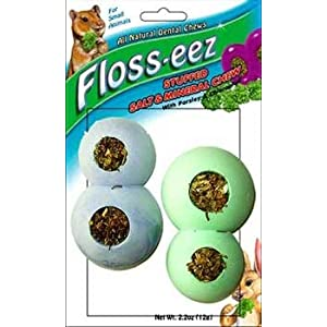 Click to buy Rabbit Toy: FM Brown's Floss-eez Stuffed Figure 8 Teether Dental Chew Treat from Amazon!