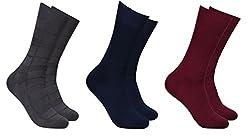 Balenzia Men's Mercerized Socks (Pack Of 3) (Jagmini76_Multi)