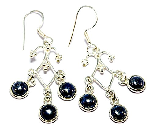 925 Silver Lapis Lazuli Earrings for Women By Gemoratti