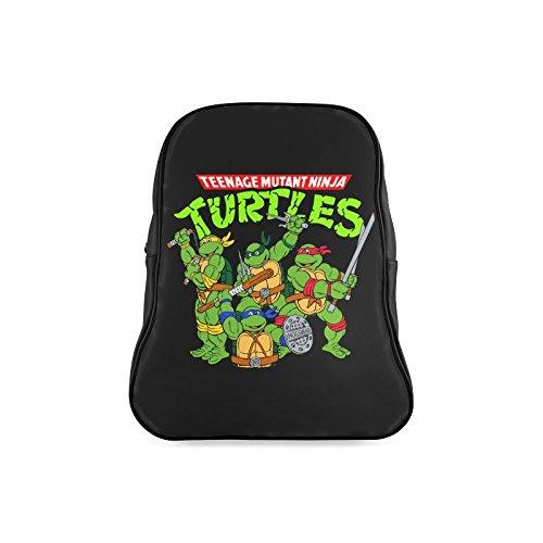 Navarro Classic Teenage Mutant Ninja Turtles TMNT Children School High-grade PU Leather Backpack Bag Shoulder Bag