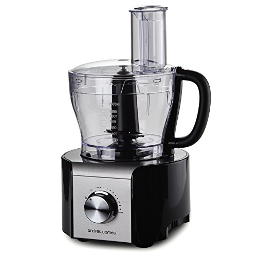 Andrew James Multifunctional Food Processor 800W - Over 10 Different Attachments including Glass ...