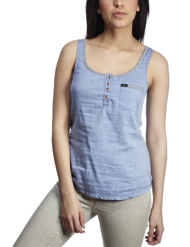 Lee Rib Women's Tank Top Faded Denim Small