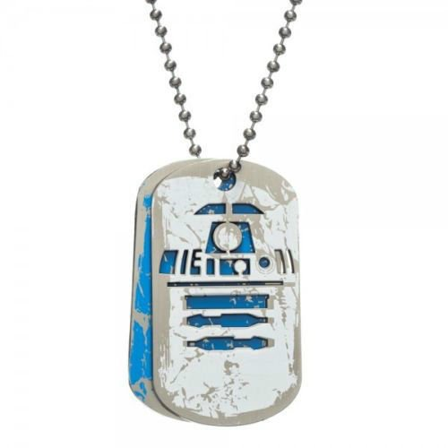 Star Wars Boba Fett, R2-D2, Empire, Rebel, Cut-Out Metal DOG TAGS NEW! Licensed!
