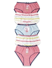 5 Pack Pure Cotton Peppa Pig Striped Briefs