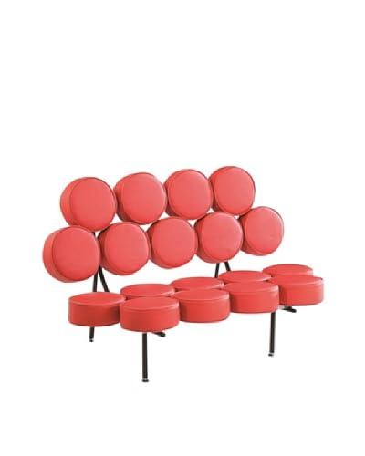 Manhattan Living Circle Sofa, Red As You See