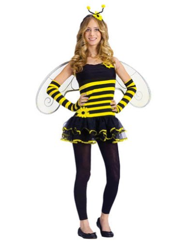 Honey Bee Teen 0-9 Kids Girls Costume