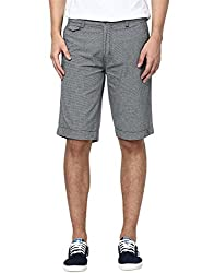 Zess Men's Cotton Shorts (8903862962269_Grey_38)