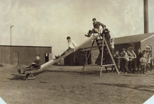 1917 child labor photo Play-time at the Oklahoma School for the Blind. Children have a great deal of