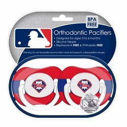 Philadelphia Phillies Pacifiers 2 Pack Safe BPA Free at Amazon.com