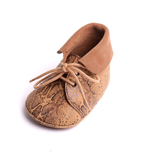 by mode france  Chaussons bébé cuir mode enfants,  Scarpine prima infanzia bambino Marrone beige pointure 20