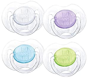 Philips Avent Translucent Orthodontic Infant Pacifier, Clear