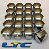 Set of 20x Alloy Wheel Covers Caps - Chrome Plated