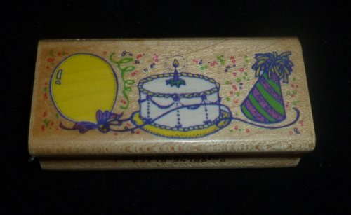 Birthday Celebration Rubber Stamp - 1