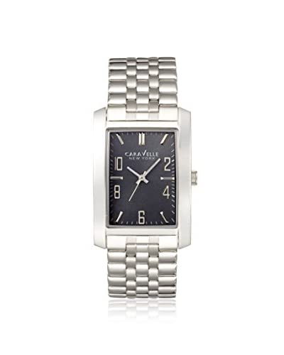 Caravelle New York by Bulova Men's 43A118 New York Silver/Gunmetal Stainless Steel Watch