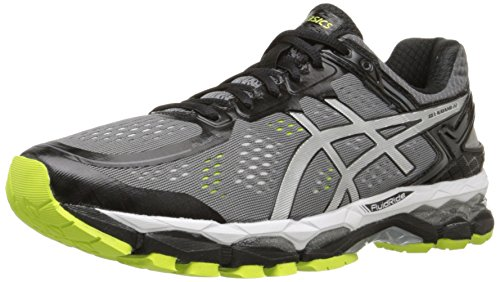 ASICS Men's Gel Kayano 22 Running Shoe, Charcoal/Silver/Lime, 10.5 M US (Asics Mens Running Shoes compare prices)