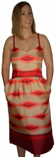 Marc By Marc Jacobs Womens Red Rock Hayley Stripe Colorblock Dress 6