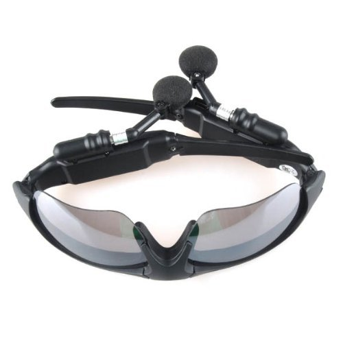 Black Mp3 Music Headphone Sunglass 2Gb Built-In Flash Memory Plug & Play Car Driving, Bicyclist, Runners, Joggers, Hiker, Outdoor Sport, Camping And Daily Use Etc