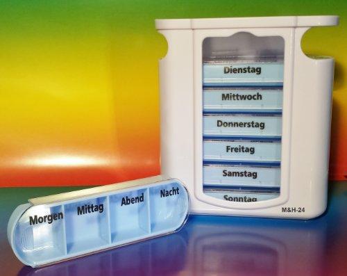 Boîte à pilules, semaines dosage, Pilulier, Pillbox sept jours de M&H