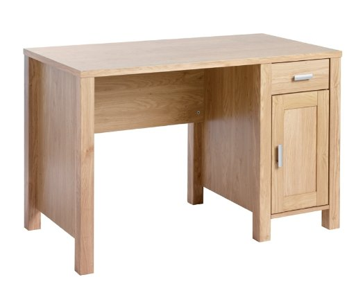 sherwood-rectangular-workstation-in-oak-with-fixed-drawer-storage-unit