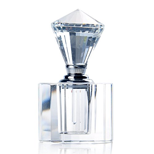 YUFENG 5ml Empty Refillable Bottle Perfume bottles Decorative for Women with Clear Crystal Diamond