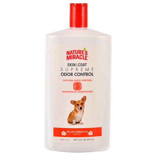 Nature's Miracle Supreme Odor Control Natural Shed Control Shampoo & Conditioner, 32 oz (Nature Miracle Shampoo compare prices)