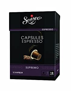 Choose Senseo Espresso Supremo, Douwe Egberts, 10 Capsules, Nespresso compatible from Douwe Egberts