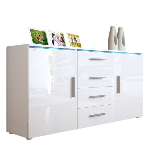 commode tv blanche