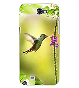 ColourCraft Beautiful Bird Design Back Case Cover for SAMSUNG GALAXY NOTE 2 N7100