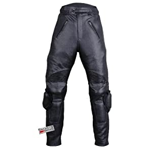 Motorcycle RACING ARMOR LEATHER PANTS w/ Slider 36w 30i